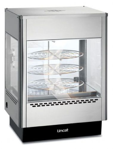 Upright Heated Merchandiser - Rotating Rack with Two Doors